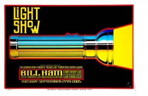 Bill Ham Light Show 40th Anniversary at Cobb's, San Francisco. Poster by Alton Kelley
