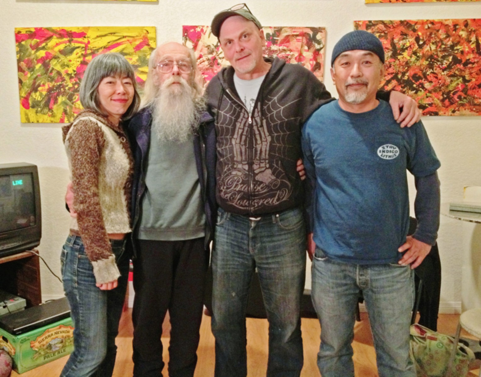 from left, emi , Bill Ham, Chuck Sperry, Ito