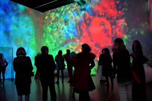 Bill Ham Light Painting Room/Light Show, at de Young, The Summer of Love Experience: Art, Fashion, and Rock & Roll. photo by emi