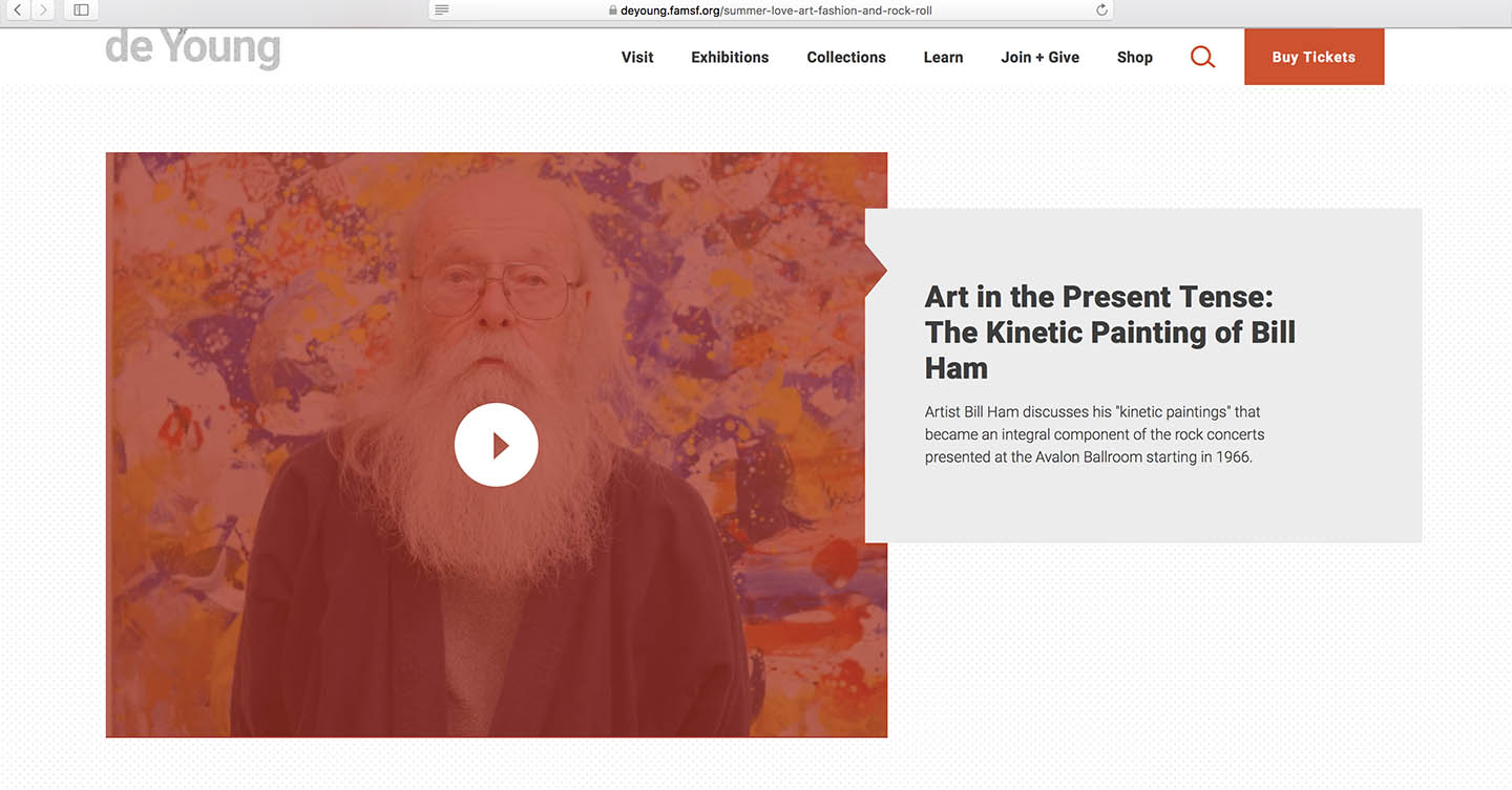 Art in the Present Tense: The Kinetic Painting of Bill Ham, deYoung