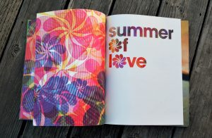 SUMMER OF LOVE CATALOGUE. Bill Ham Light Painting/Light Show still image edited by emi. Original digital recording of the Bill Ham light painting by Lawrence Lauterborn